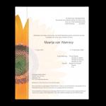 Rouwkaart-Bloem-Model2-zonnebloem