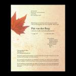 Rouwkaart-Diversen-Model-herfstblad