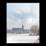 Rouwkaart-Regiokaarten-Model9-kerk in de zon
