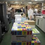 Voldoende papier en materialenvoorraad om direct te kunnen starten
