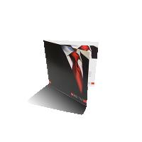vierkante kaarten drukken op glad papier