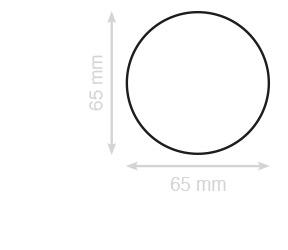 Bestel ronde visitekaartjes op 3 verschillende diameter formaten