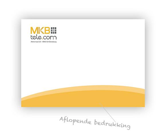 Deze envelop is ontworpen met een aflopend beeld