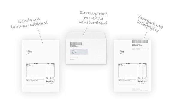 Briefpapier ontwerp afstemmen op vensterstand van envelop