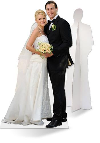 bruidspaar foto levensgroot afdruk