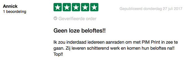 Visitekaartjes review